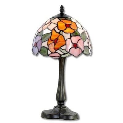 Sobremesa pantalla semiesfera flores cristal tiffany