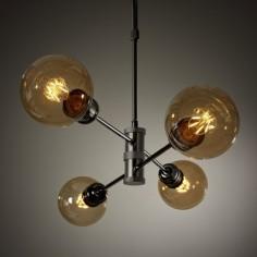 Lámpara vintage Horizon cuatro luces oro viejo