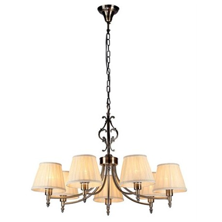 Comprar l mpara de techo vesta elegant cl sica de siete luces acabado en bronce - Lamparas clasicas de techo ...