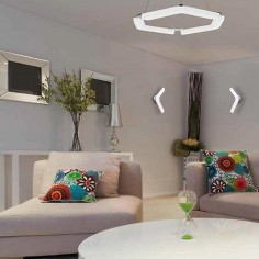 Aplique pared LED Boomerang en cromo y blanco