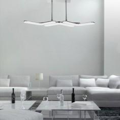 Lámpara de techo colgante LED Boomerang en cromo