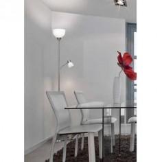 Lámpara de pie Nimbus LED con lector en níquel satinado