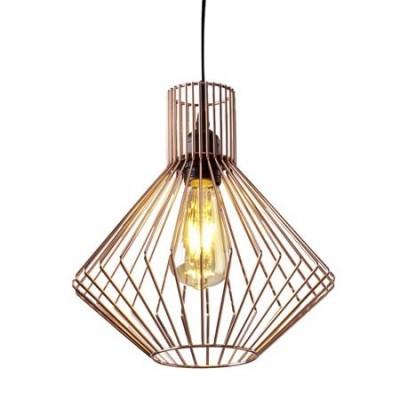 Lámpara colgante jaula Mistral metal en cobre