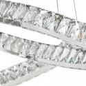 Lámpara colgante Carolina LED cristal óptico y cromo