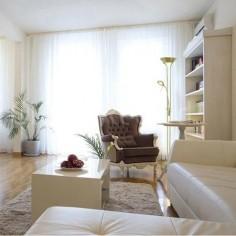 Pie de salón Lampa LED regulable en cuero con brazo lector