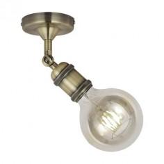 Lámpara de pared vintage Calabri en cuero orientable