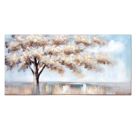 Comprar Pintura En Lienzo Acacia Rectangular En Tonos Azul
