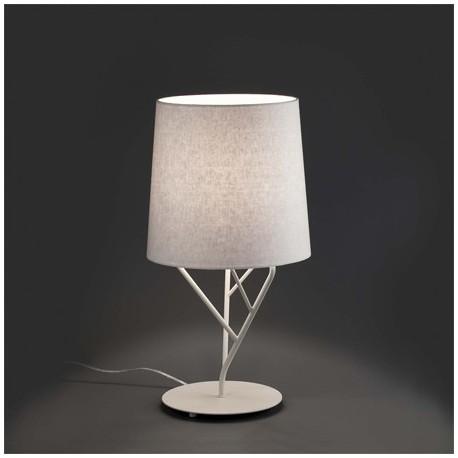 Comprar l mpara sobremesa tree blanca moderna en metal y for Lamparas sobremesa modernas
