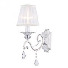 Lámpara de pared Grace Elegant con una luz en blanco rozado oro
