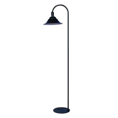 Lámpara de pie Campana Curvo LED en metal negro