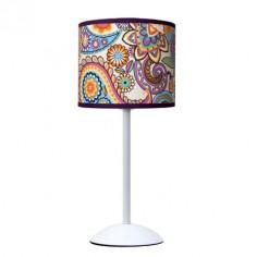 Lámpara de sobremesa juvenil Desigual estampado colores