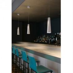 Lámpara colgante LED Pluma blanco en aluminio