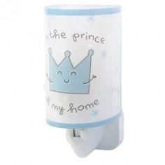 Luz noche infantil Prince & Princess en azul y blanco con fluorescencia