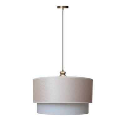 Lámpara colgante Capri doble pantalla textil