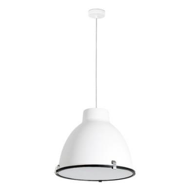 Lámpara colgante Charlotte campana industrial moderno en blanco
