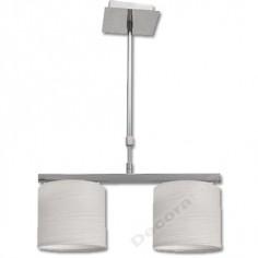 Lámpara con brazo extensible en color cromo con pantallas blancas