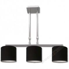 Lámpara en cromo brillante con altura ajustable y dos luces