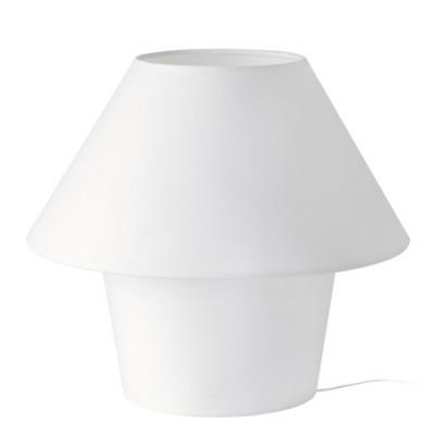 Lámpara de sobremesa Versus en textil blanco