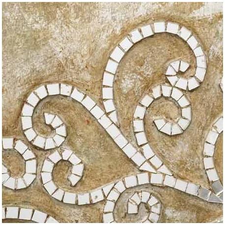Comprar mural pared rbol mosaico espejos en madera beige for Mosaico madera pared