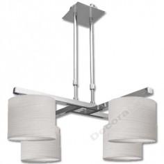 Lámpara colgante con forma moderna en color cromo