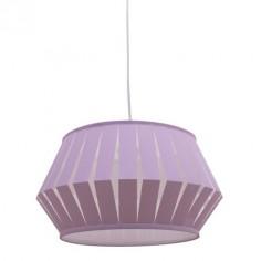 Lámpara colgante infantil Espiral lila pantalla tiras
