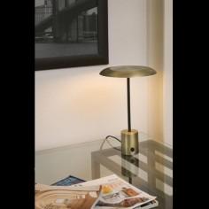 Lámpara sobremesa Hoshi LED regulable en oro satinado y negro