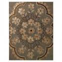 Cuadro decoración retablo madera Flores mosaico nácar