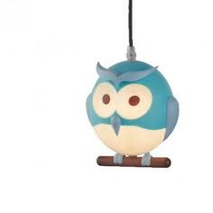 Lámpara techo infantil Novelty azul con forma de búho