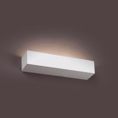 Aplique de pared EACO-2 blanco rectangular en yeso