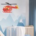 Lámpara de techo infantil Helicóptero rojo Novelty