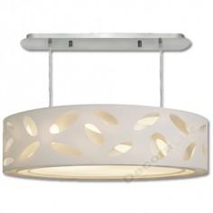 Lámpara colgante grande triple pantalla blanca perforada