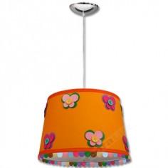 Colgante infantil pantalla naranja adornos flecos colores