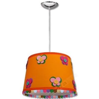 -Colgante infantil pantalla naranja adornos flecos colores