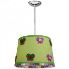 Lámpara colgante infantil verde con botones decorativos