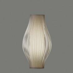 Lámpara de sobremesa Murta con tiras en color piedra