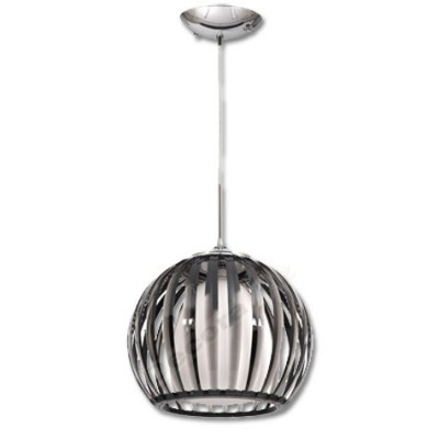 Lámpara colgante globo blanco bola acrílico negra