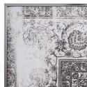 Cuadro impresión en lienzo gris y blanco con marco