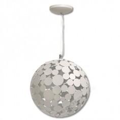 Lámpara colgante blanco globo compuesto círculos