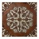 Retablo decoración pared mosaico marrón y crema cristales y nácar