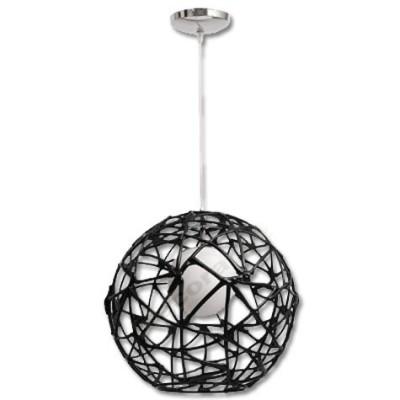 Lámpara colgante ramas color negro forma esfera