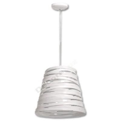 Lámpara colgante pantalla cinta blanca moderna