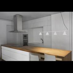 Lámpara techo Flash LED blanca cuatro luces orientables