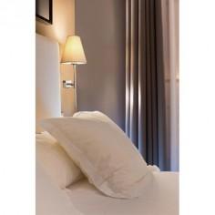 Lámpara pared Sabana en acero con pantalla textil beige