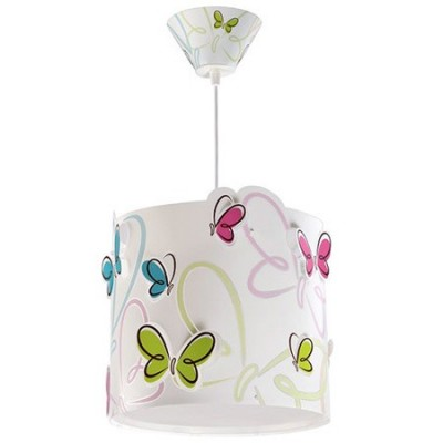 Lámpara colgante juvenil Butterfly mariposas de colores