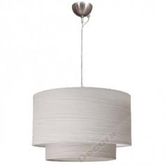 Lámpara colgante doble pantalla estilo actual color blanco