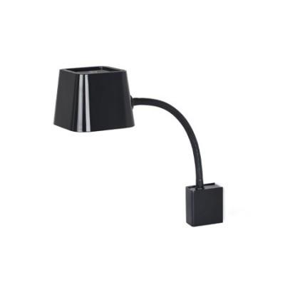 Lámpara pared Flexi negra con cuerpo flexible orientable