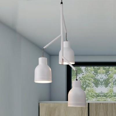 Lámpara moderna Miami tres luces en blanco arena