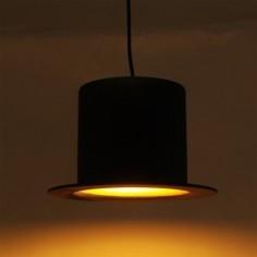 Lámpara Chisteracolgante sombrero negro