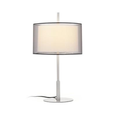 Lámpara de sobremesa Saba en acero con pantalla textil