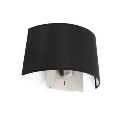 Lámpara de pared Volta en metal con pantalla negra
